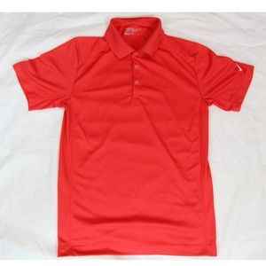 SMALL RED NIKE GOLF DRI FIT POLO